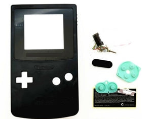 GBC ( gameboy color) Replacement shell BLACK color