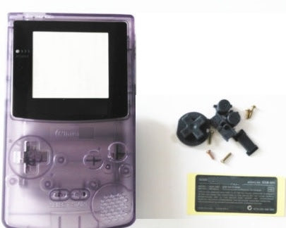 GBC ( gameboy color) Replacement shell TRANSPARENT PURPLE ( atomic)