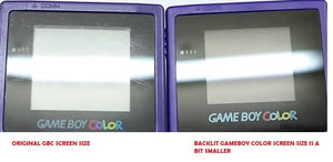 Backlit Gameboy color  ( GBC) console  KIWI color