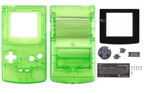 GBC ( gameboy color) Replacement shell TRANSPARENT GREEN