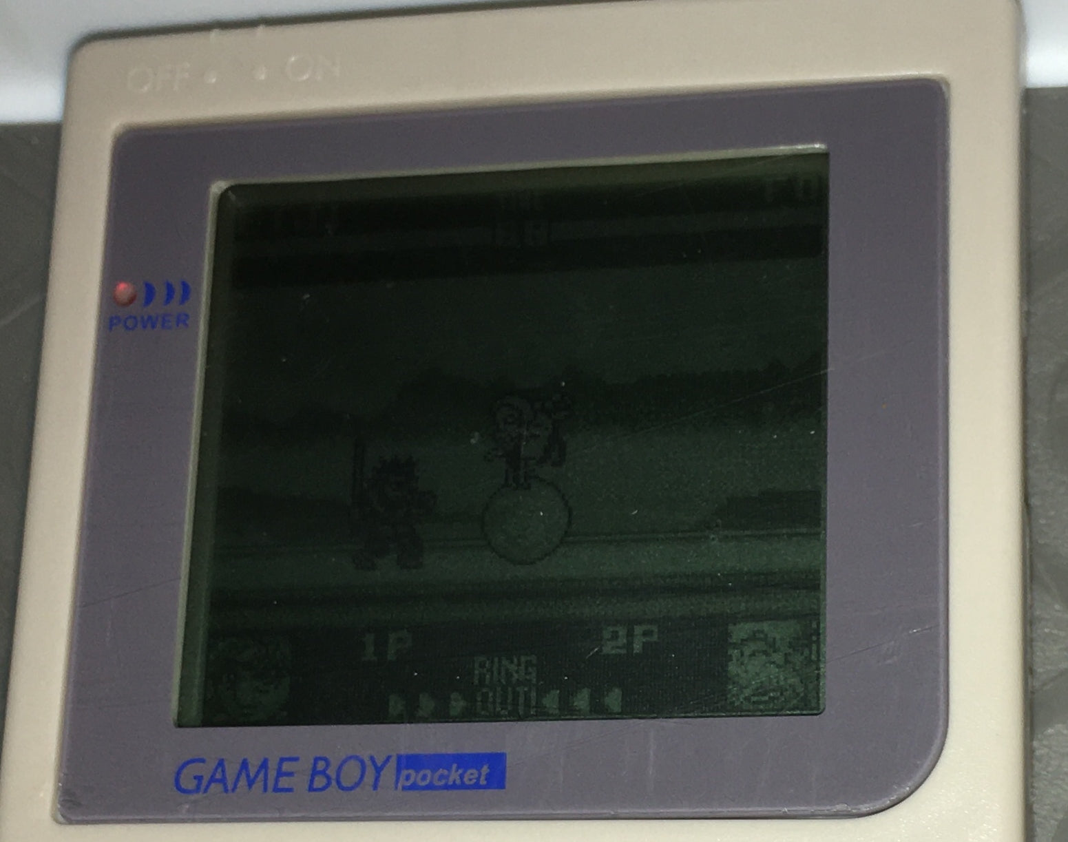 GBP gameboy pocket refurbished handheld ( light grey color)
