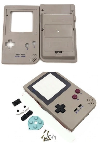 GBP ( gameboy pocket ) Replacement shell classic grey