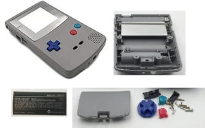 GBC ( gameboy color) Replacement shell Grey with color buttons