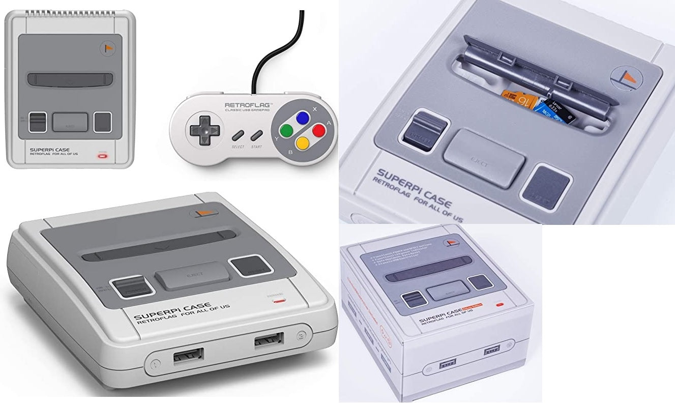 Retroflag SUPERPi Case ( Japan SNES style for raspberry  pi 3B+,2B, and 3B)
