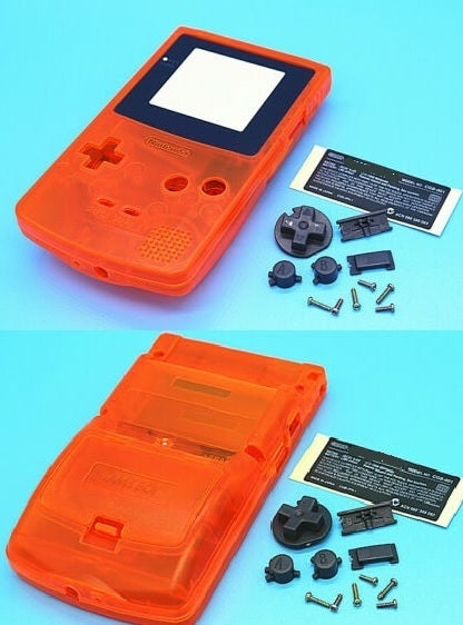 GBC ( gameboy color) Replacement shell TRANSPARENT  ORANGE
