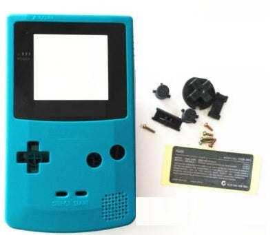 GBC ( gameboy color) Replacement shell TEAL color