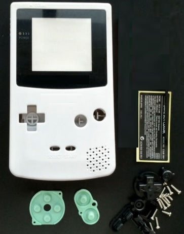 GBC ( gameboy color) Replacement shell WHITE