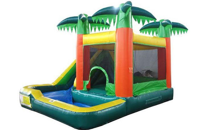 buy palm tree combo water slide and bounce house for kids
