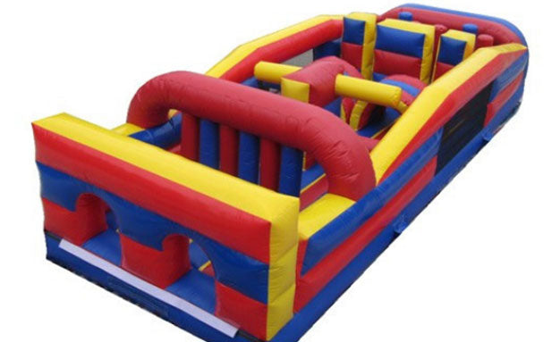 multi color element commercial grade obstacle course for kids