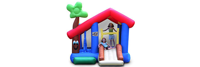 playhouse indoor bouncer with kids