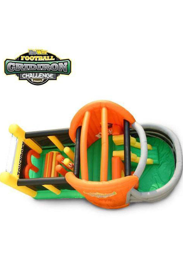 gridiron challenge - commercial inflatable obstacle courses for kids