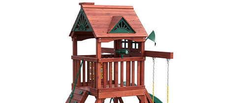 Small Wooden Swing Sets Gorilla Five Star Space Saver Swing Set for sale
