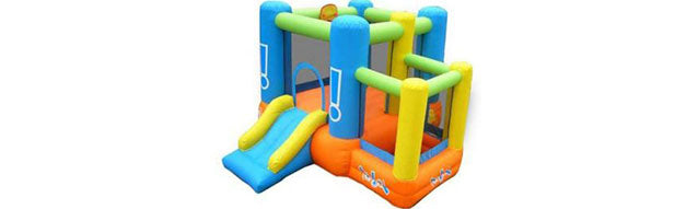 little star indoor bouncy house with ball pit