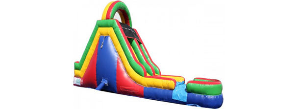 rainbow inflatable slide wet n dry slides for kids and adults