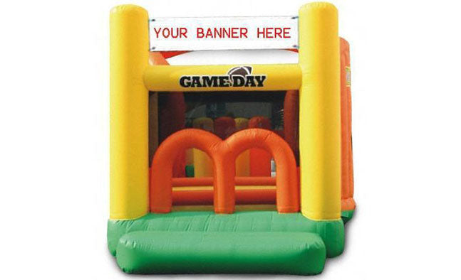 gameday yellow commercial grade bounce houses