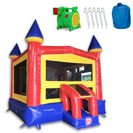How are commercial bounce houses different?