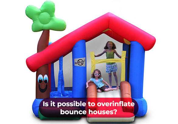 use powerful air blower to inflate your bounce house
