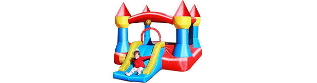 indoor bounce house with slides