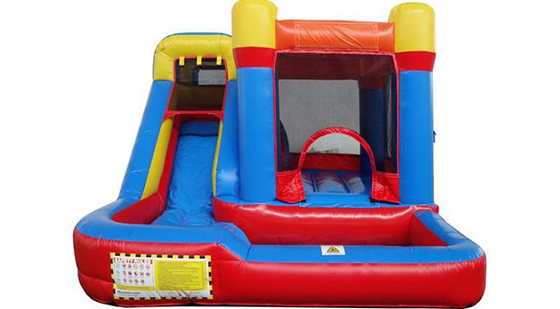 buy red and blue combo bounce house with water slide for kids