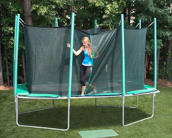 Magic Circle 9' x 14' Rectangle Trampoline With Safety Enclosure