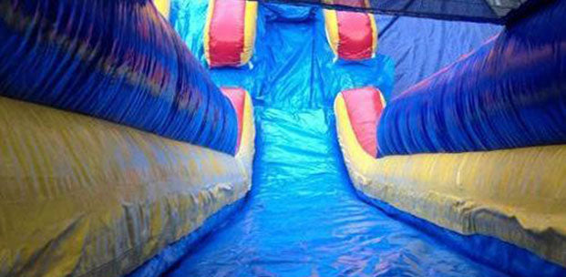 inside view of commercial grade water slides