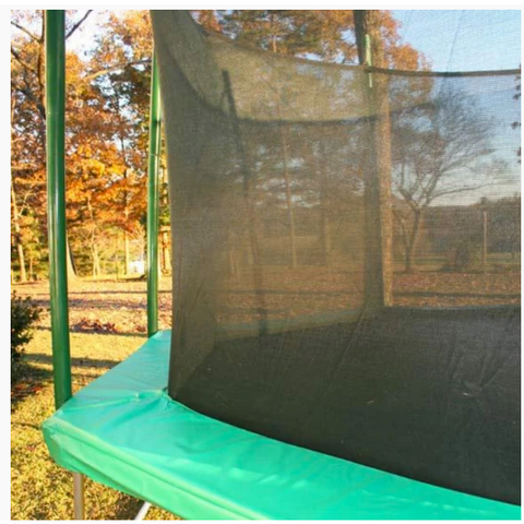 setup pole, strap and enclosure net of the trampoline