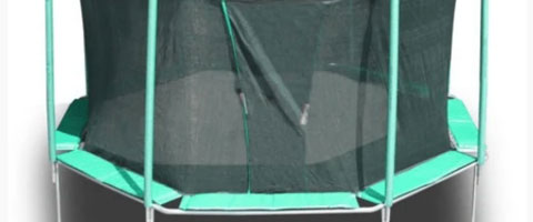 octagonal trampoline for sale with safety net