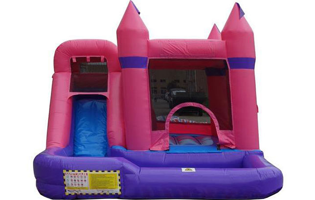 buy pink castle combo residential bounce house with water slide