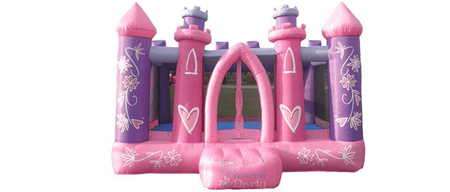 Pink color princess party indoor bouncer for kids