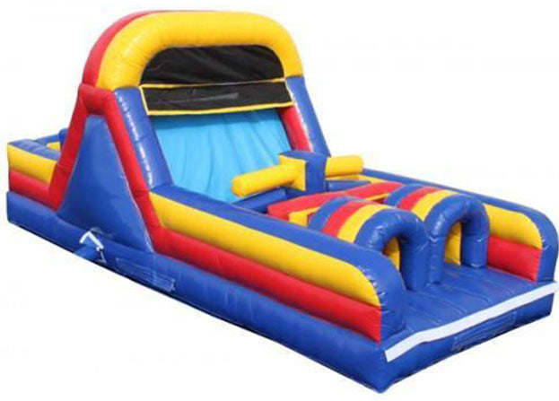 red yellow blue obstacle course - commercial grade jump house