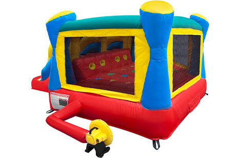 residential bounce house with blower