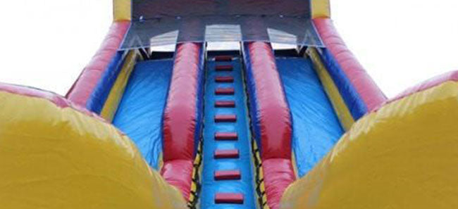 view from bottom of the commercial inflatable water slide