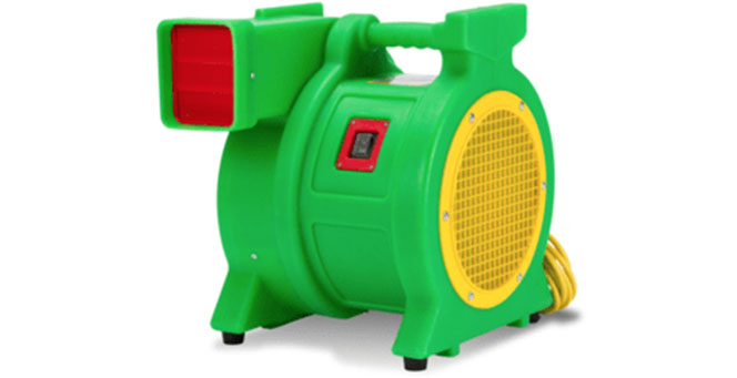 green blower for jumpy obstacle course for commercial usage
