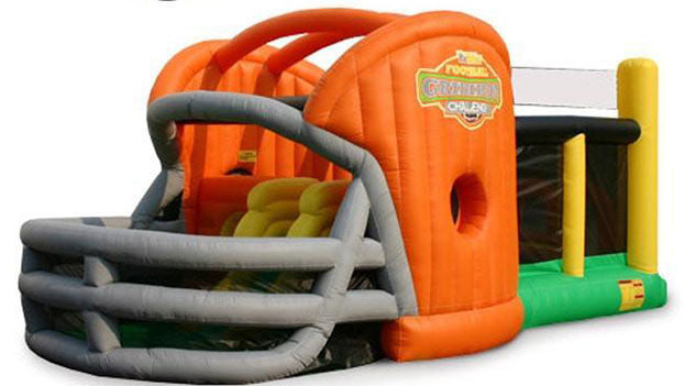 orange color commercial inflatable obstacle courses for kids