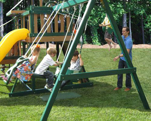 What are the parts of the swing sets made in the USA