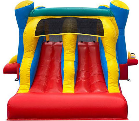 red-yellow bounce houses