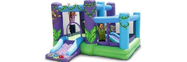 green violate mix color indoor bounce house