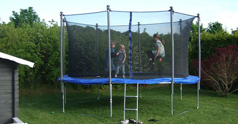 trampoline for kids with safety enclosure