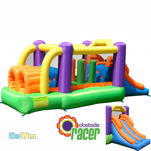 KidWise Obstacle Speed Racer Bounce House