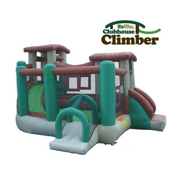 Kidwise Outdoors Clubhouse Climber Bounce House
