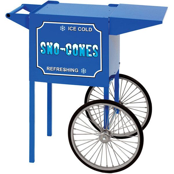 Small Blue Snow Cone Cart