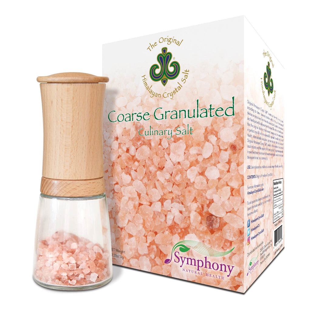 Coarse Granulated Culinary Salt + Beechwood Ceramic Salt Grinder