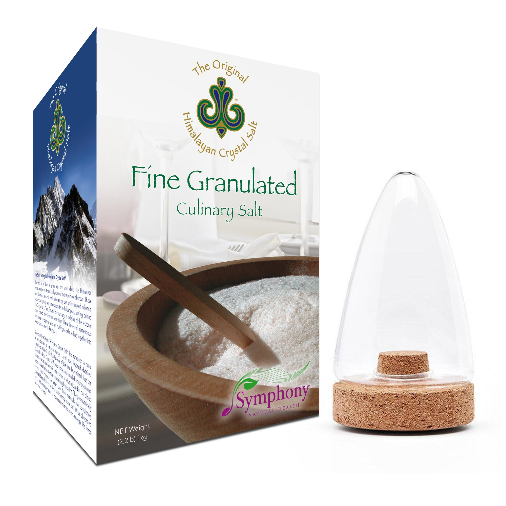 Fine Granulated Culinary Salt + Salt Shaker