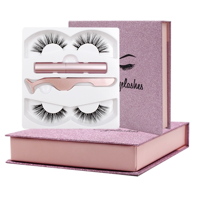 Premium Magnetic Set Waterproof 2 pairs lashes