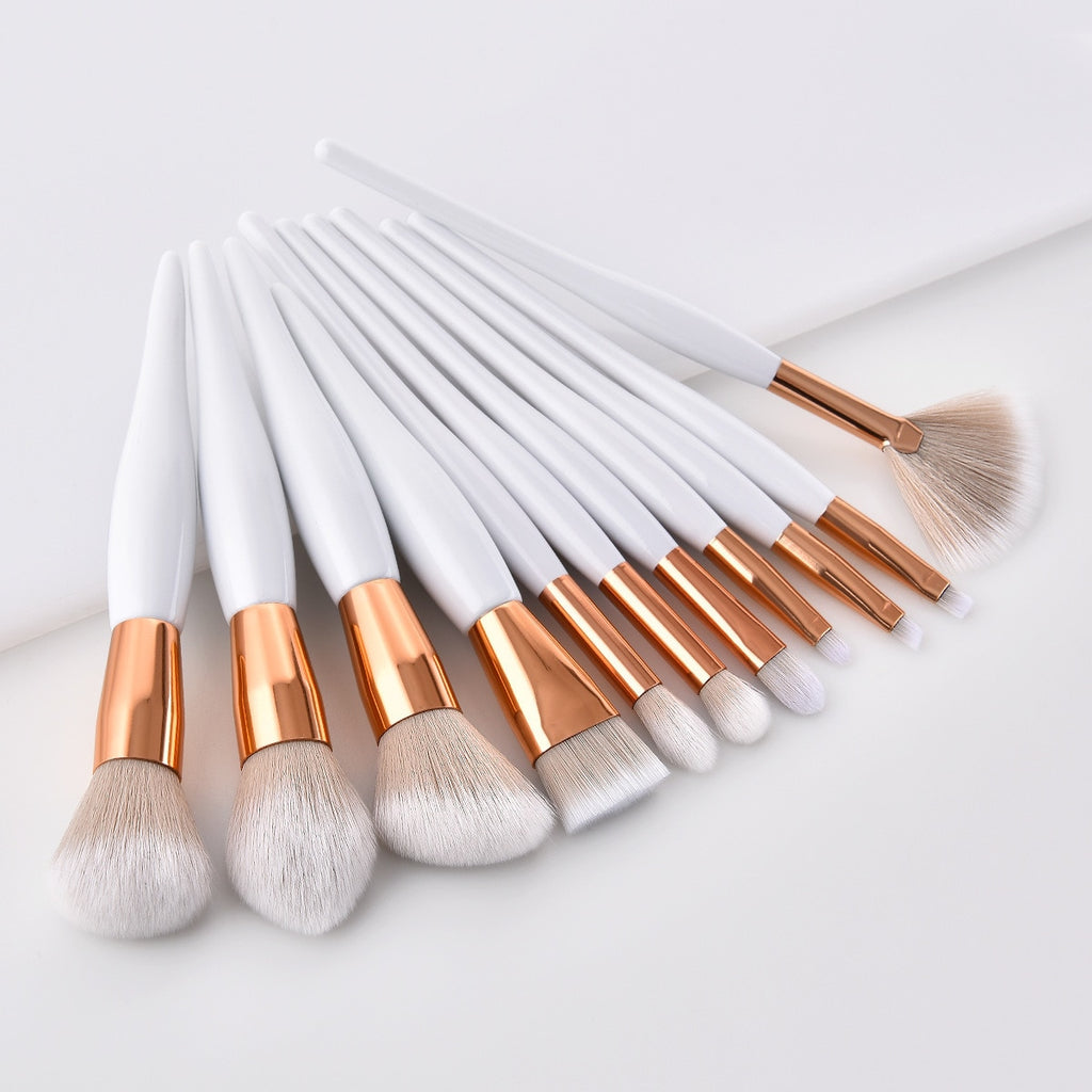 Luxury White Makeup Brushes High Quality