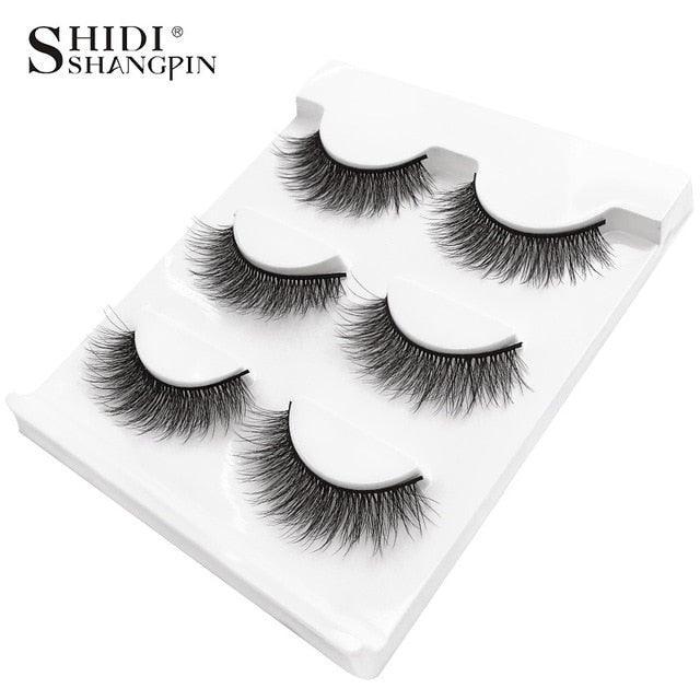 3 pairs natural eyelashes