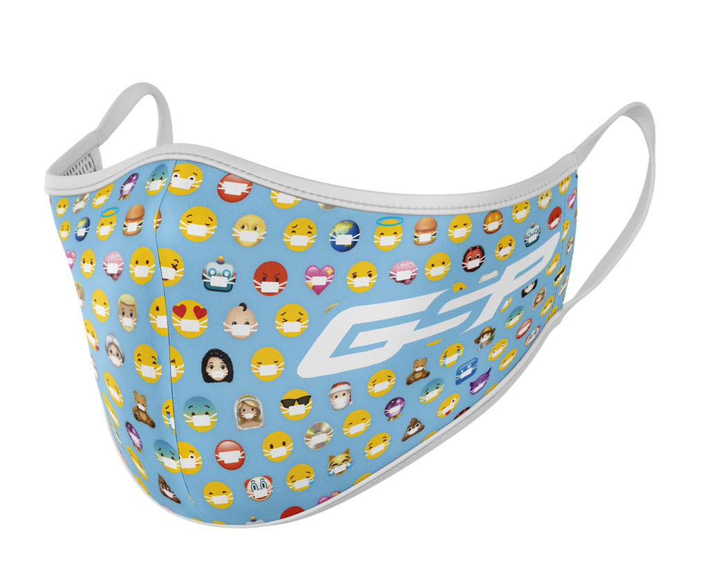 GSP Dual Layer Mask with Filter Pocket - Emoji