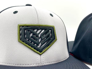 GS Sports Carbon Crest PTS20 Hat - Grey/Black with Military Green Carbon