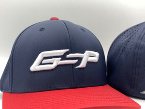 GS Sports GSP 474 Performance Hat - Navy / Red with White logo