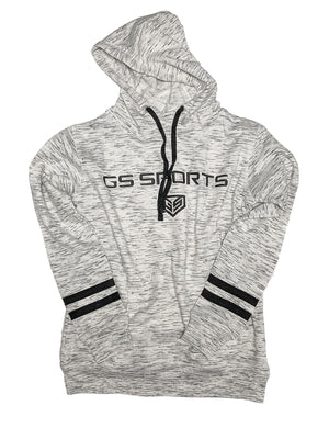 GS Sports Wordmark Womens White Heather Hoodie